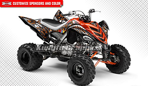 om Decal Kit for Yamaha ATV Raptor 700 2006 2007 2008 2009 2010 2011 2012,Shark Style (Yamaha Atv Graphics Kit)