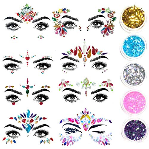 Beauty & Health Temporary Tattoos New Temporary Tattoo Crystal Stickers Eyes Jewels Gems Festival Party Stage Makeup Face Body Art Flash Tattoo Rhinestone Tattoos Good Heat Preservation