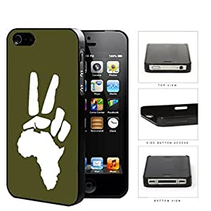 African Continent Motherland Peace Sign Green Hard Plastic Snap On Cell Phone Case Apple iPhone 4 4s