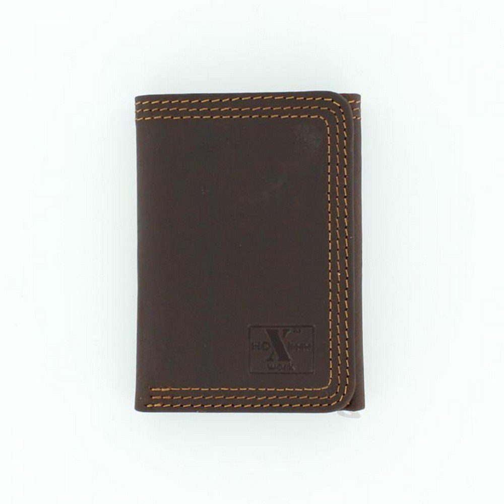 Nocona Men's HDX Trifold Triple Heavy Duty Stitching Wallet, Brown, OS