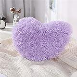 MooWoo Fluffy Faux Fur Throw Pillow,Sherpa Plush