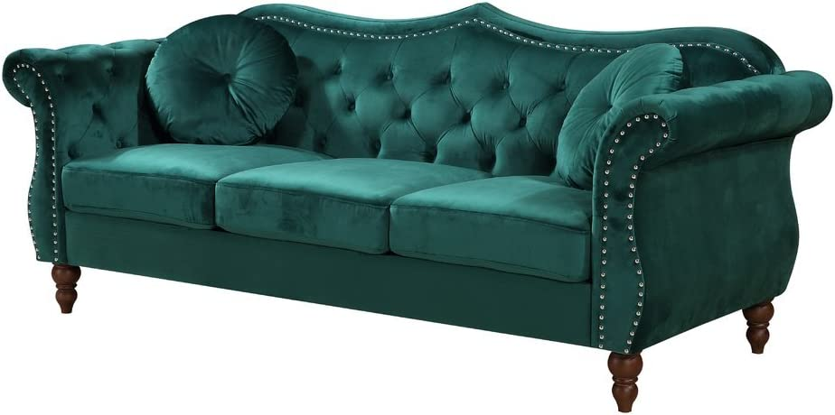 Container Furniture Direct Anna1 Sofa, Green