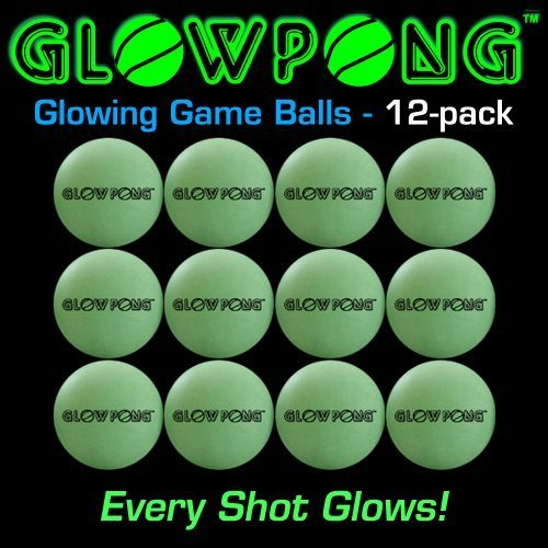 GLOWPONG Glowing Game Balls -