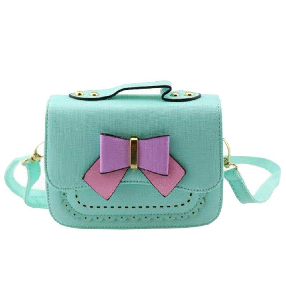 Dodocat Super Cute 3D Design Small Blue Bowknot Messenger Bag Kids Shoulder Bag Crossbody Handbag