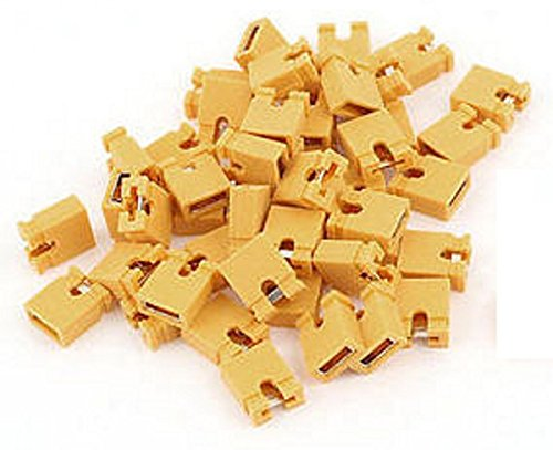2.54mm Standard Computer Jumper Caps 100pack - Yellow by CorpCo