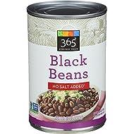 365 Everyday Value, Black Beans No Salt Added, 15 oz