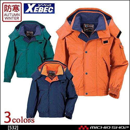 ジーベック 防水防寒ブルゾン 532 作業服 B07BK1CHKX 3L 82オレンジ 82オレンジ 3L