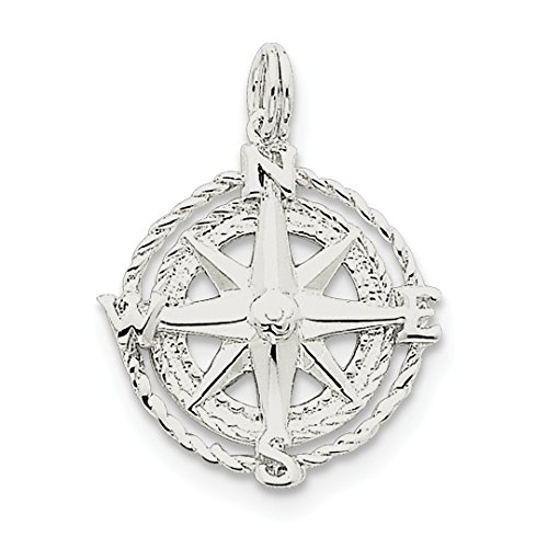 Ice carats 925 sterling silver compass pendant charm necklace fine previous next aloadofball Image collections