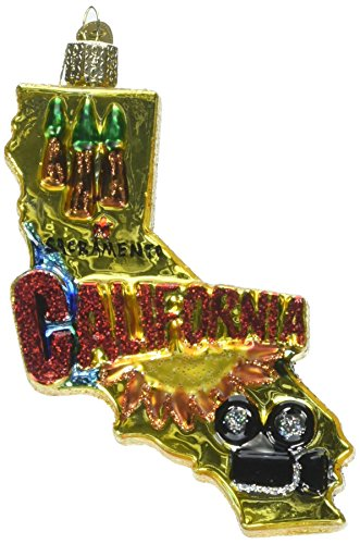 Old World Christmas Ornaments: State of California Glass Blown Ornaments for Christmas - Ornaments California