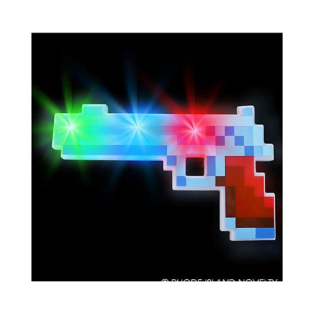 10'' Light-Up Pixel Pistol by Bargain World
