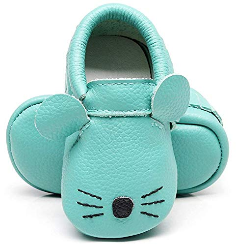 Bebila Cartoon Baby Girls Boys Moccasins Soft Leather Babe Shoes Slippers for Toddler First Walkers