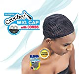 Shake N Go Freetress Crochet Wig Cap with Combs Diamond Shape Net (6 Pack)