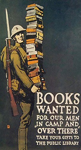 LAMINATED 24x44 Poster: Soldier Books World War 1 Man Army Drawing Cartoon Old Military Vintage War Classic Retro Battle Weapon Olive History Antique Khaki Nostalgia Ww1 Wwi World War I