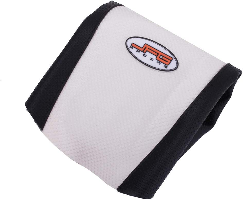 White Color YSMOTO Motorcycle Gripper Seat Cover Rubber Soft Skin Covers For Honda CR125 92-93 CR250 1992-1993 Dirt Pit Bike Off Road