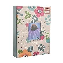 "Arpan Fashion Design 200 Holds Photo album for 5""X7"" (13X18cm) Photo with Window (CREAM-FLOWER)"