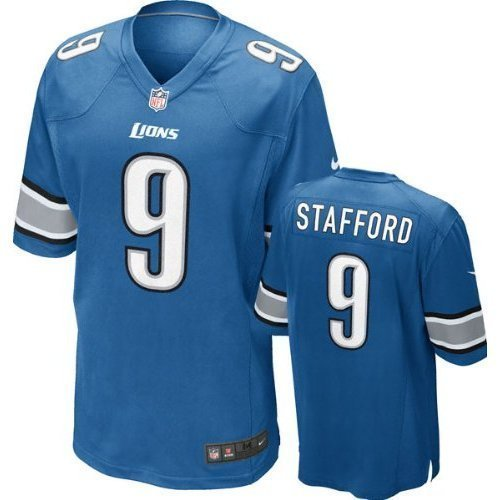 best sneakers 7e6a2 8edc8 Matthew Stafford Detroit Lions NFL Blue Game Jersey