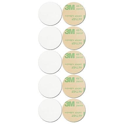 GoToTags Blank White On-Metal NFC Tag - Sticker - NTAG216 - Circle - 30 mm  - 10 Pack