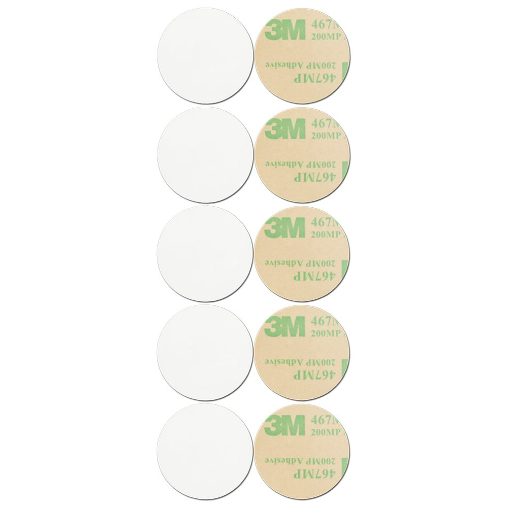 Blank White On-Metal NFC Tag - Sticker - NTAG216 - Circle - 30 mm - 10 Pack