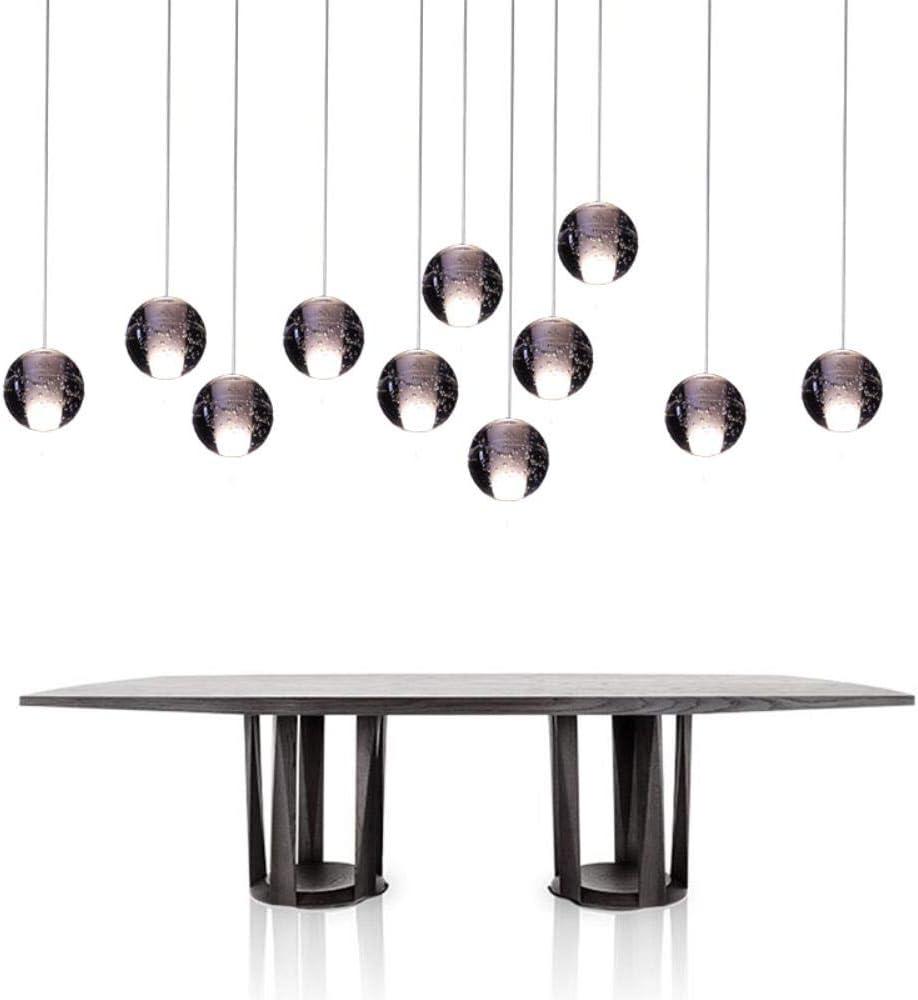 El envío gratis moderno colgante de la luz G4 Bombillas Led Incluidas Cristal Suspensión de la Iluminación de Escaleras de la Sala del Loft de la Lámpara de Luz: Amazon.es: Iluminación