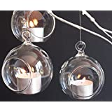 """2 3/4"""" Hanging Glass Globe, Terrarium Candle Holder Bulk   Sold by Case of 12   2 day sale only"""