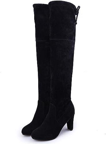 Plus Size Platform Round Toe High Heel Over Knee Boots Thigh High Boots Women