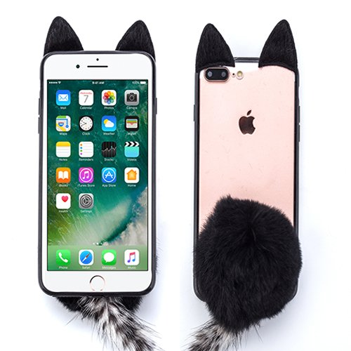 Fur Bunny Tail - for Apple iPhone 7 Plus 8