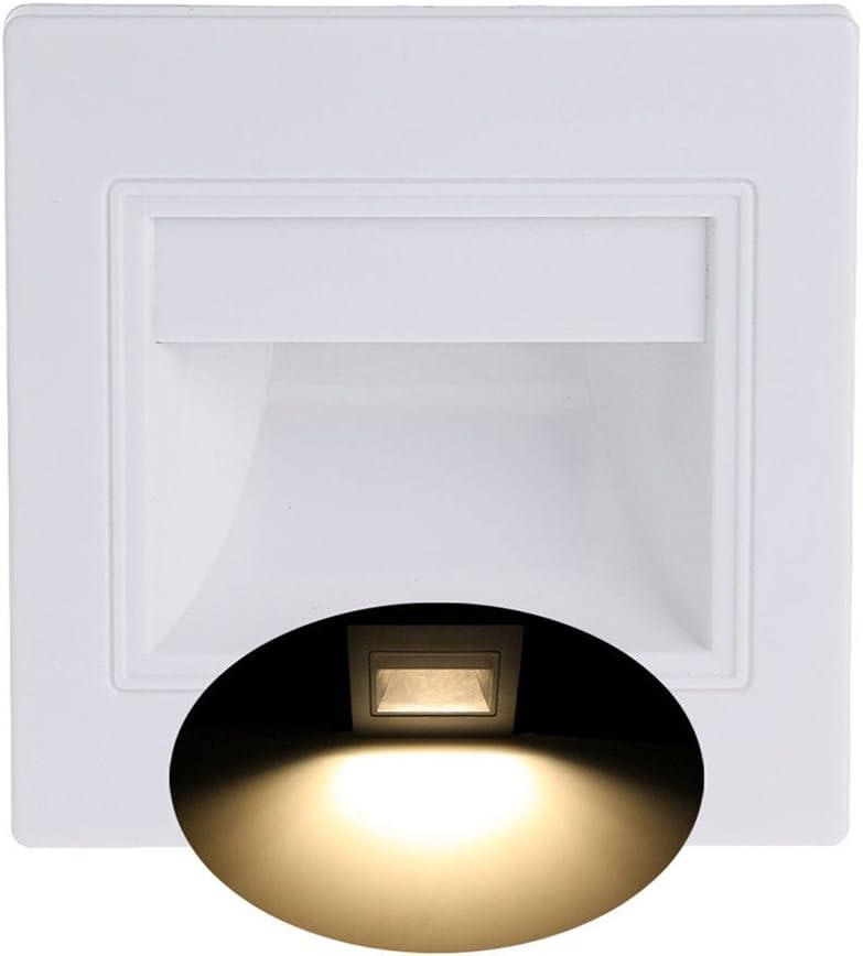 display08 8LEDs foco empotrable escaleras Camino Camino pared jardín Lámpara de luz nocturna – 1,5 W: Amazon.es: Iluminación