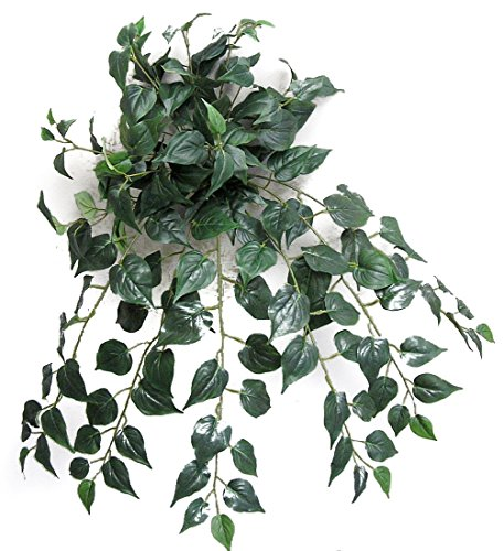 Admired By Nature Artificial Philo Ivy Hanging Bush Plant - 180 Leaves for Home office, Wedding & Restaurant Decoration Arrangement, 27