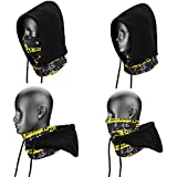 Weanas® 4 in 1 Face Cover Hood Mask Balaclava Hat, Hood Veil Thermal Warm Wind Proof, Neck Warmers Face Mask and Fleece Hat, for Snowboard, Swat, Ski, Motorcycle, Winter Sports