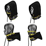 WEANAS 4 in 1 Face Cover Hood Mask Balaclava Hat, Hood Veil Thermal Warm Wind Proof, Neck Warmers Face Mask and Fleece Hat, for Snowboard, Swat, Ski, Motorcycle, Winter Sports