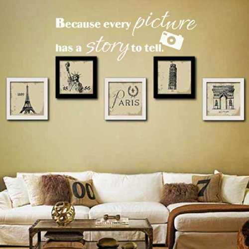 Because Every Picture Has A Story To Tell Family Wall Quote Room