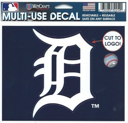 HCW-Detroit-Tigers-Multi-Use-Coloured-Decal-Sticker-5x-6-MLB-Baseball