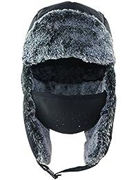 Unisex Winter Trooper Trapper Hat Warm Hunting Hats Ushanka Ear Flap Chin Strap and Windproof Mask