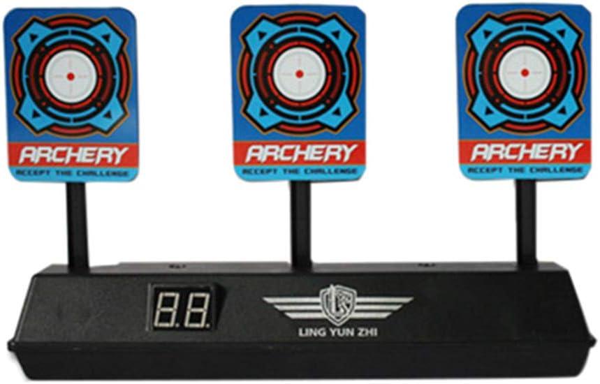 Toyvian Dispositivo de Entrenamiento de Tiro con Objetivo de balizas de restablecimiento automático de Bolas de puntuación de Tiro electrónico para Rifles (Negro)