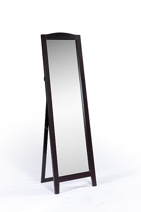 Amazon.com: King\'s Brand Cherry Finish Wood Frame Floor Standing ...