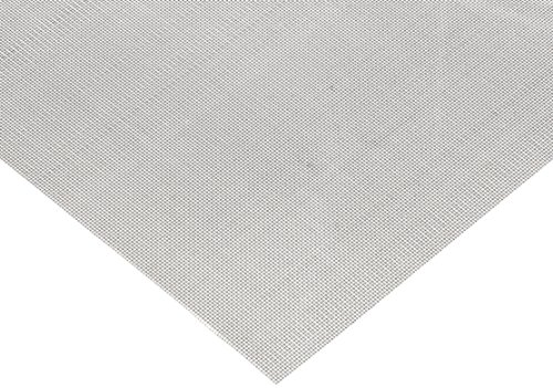 304 Stainless Steel Woven Mesh Sheet, Unpolished (Mill) Finish, ASTM E2016-06, 12'' Width, 12'' Length, 0.0065'' Wire Diameter, 65% Open Area by Small Parts