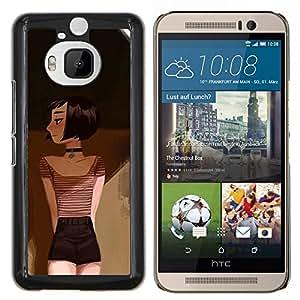 LECELL--Funda protectora / Cubierta / Piel For HTC One M9Plus M9+ M9 Plus -- Dibujo Pintura Arte Profundo Emo Hipster --