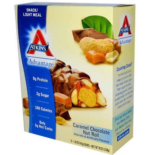 Atkins Advantage Bar Caramel Chocolate Nut - 5 Bars by Atkins