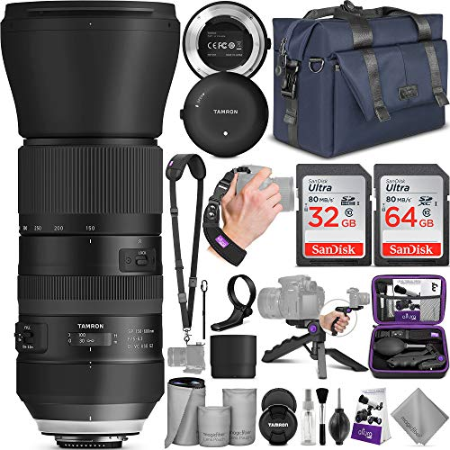 Tamron SP 150-600mm F/5-6.3 Di VC USD G2 Lens for Canon DSLR Cameras + Tap-in Console with Altura Photo Complete Accessory and Travel - System G2 Travel