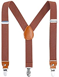 Children Boys Kids Adults Suspenders - Sturdy Metal Clips...
