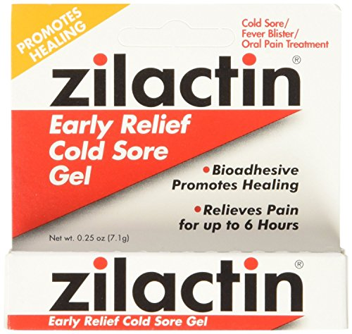 Zilactin Cold Sore Gel, Medicated Gel, 2 - Cold Sore Zilactin