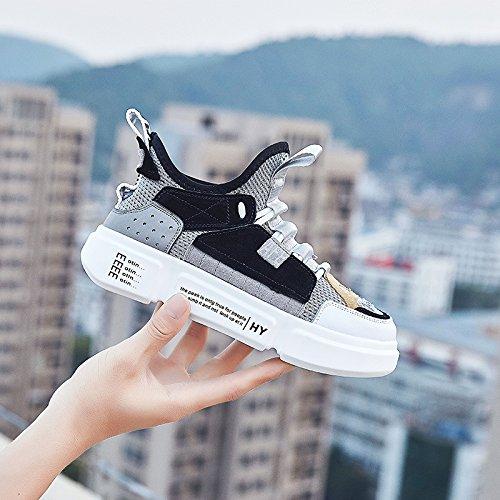 QQWWEERRTT Moda Deportes femeninas Modelos Salvaje Verano Pareja Harajuku grises de Nuevos Zapatos Femeninos Zapatos UUAdwr