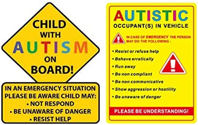 Some Disabilities Are Invisible My child Is Autistic Car Van Waterproof Sticker
