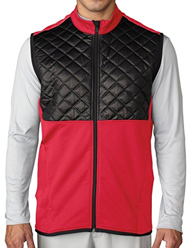 Adidas ClimaHeat Prime Quilted Full Zip Golf Vest 2016 Ray Red/Black XX-Large -  AF2722