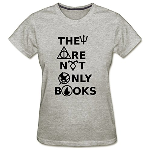 Conquershop Women's They Are Not Only Books T-shirt (Gray ()