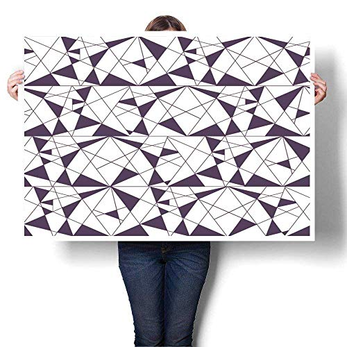 SCOCICI1588 1 Piece Wall Art Painting with Triangles. Stylish Texture. Vector Wallpaper, Background Oil Painting,24