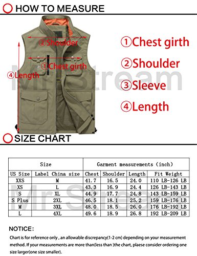 Mr.Stream Men's Quick Drying Outdoor Sports Gilet Lightweight Mountain Fishing Active Sleeveless Vest 3XL Blue by Mr.Stream (Image #7)