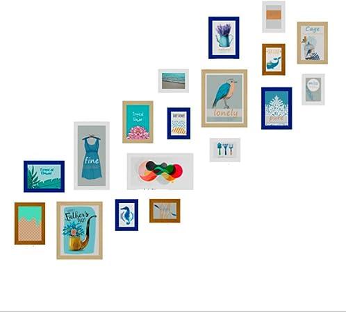 Multi-Foto Marco Doble Escalera Foto Pared Reloj pequeño Fresco combinación Foto Marco Industrial Viento Decorativo Pintura: Amazon.es: Hogar