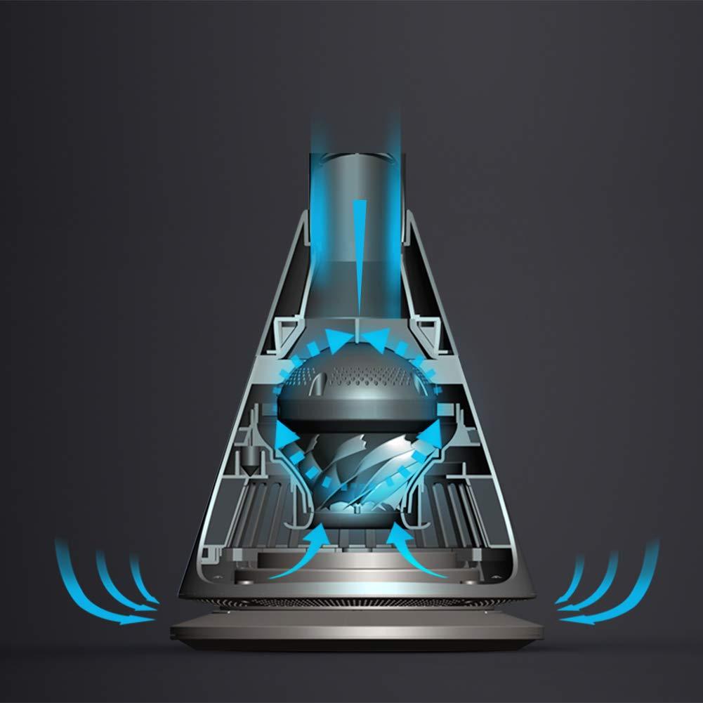 Carkiien Oszillierender Turmventilator mit Fernbedienung Timer Schwarz 9 Geschwindigskeitsstufen 97cm Spalte Aluminium 26W