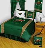 NHL Minnesota Wild Comforter and Sheets 4 Pc Twin Bedding Set
